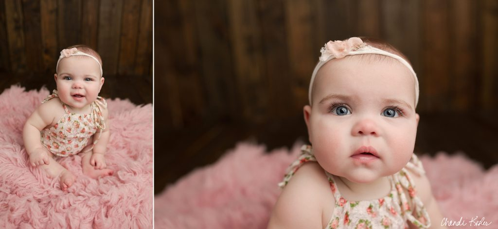 6 Month Baby Picture Ideas | Chandi Kesler Photography | Peoria IL Photographer