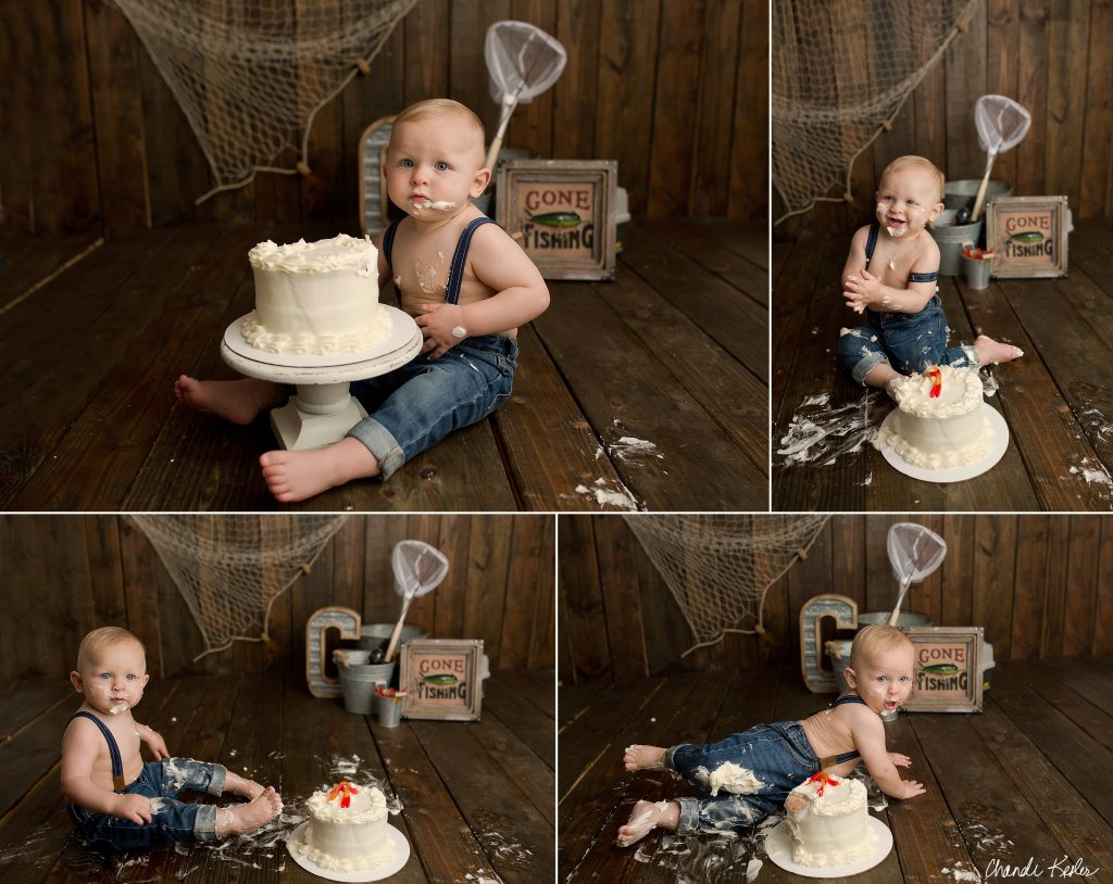 St. Joseph IL Cake Smash Photographer | Chandi Kesler Photography