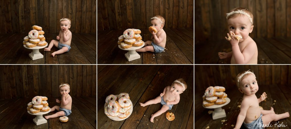 Cake Smash Photographer | Mahomet IL Photographer | Donut Smash Ideas