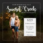 Additional Openings for 2018 Sunset Creek Mini Sessions