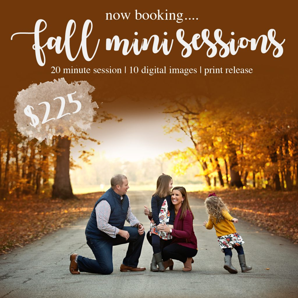 Fall Mini Sessions Bloomington IL | Chandi Kesler Photography